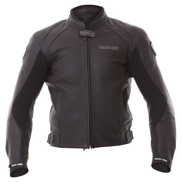 Arlen Ness Lj-9689-An Black Leather Motorcycle Jacket Front