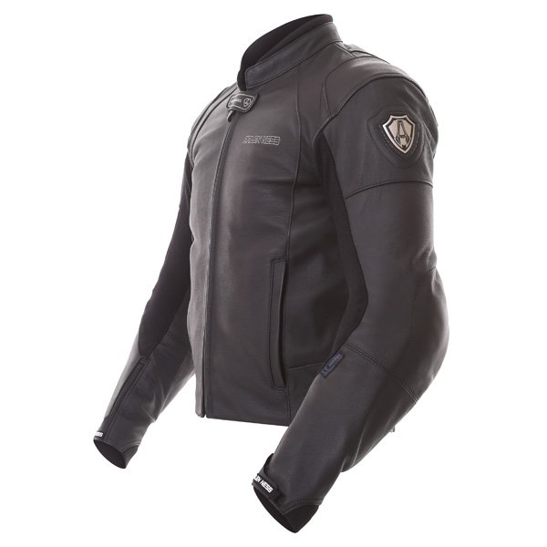 Arlen Ness Lj-9689-An Black Leather Motorcycle Jacket Side