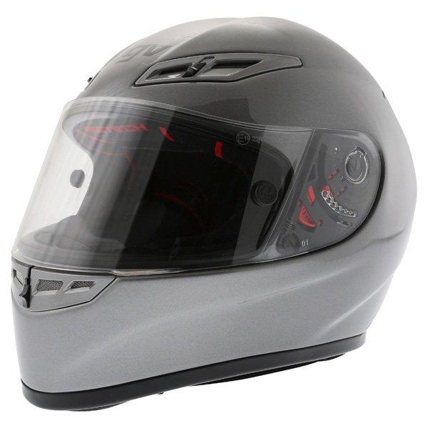AGV GP Tech Gun Grey Helmet Front Left