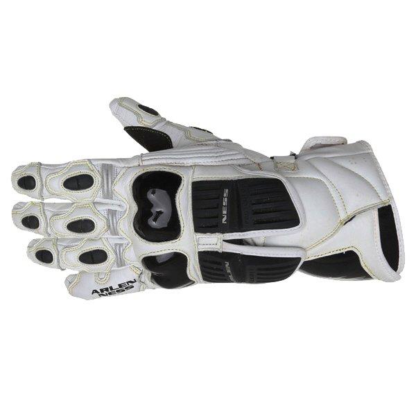 Arlen Ness G-7205 White and Black Gloves Back