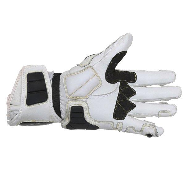 Arlen Ness G-7205 White and Black Gloves Palm