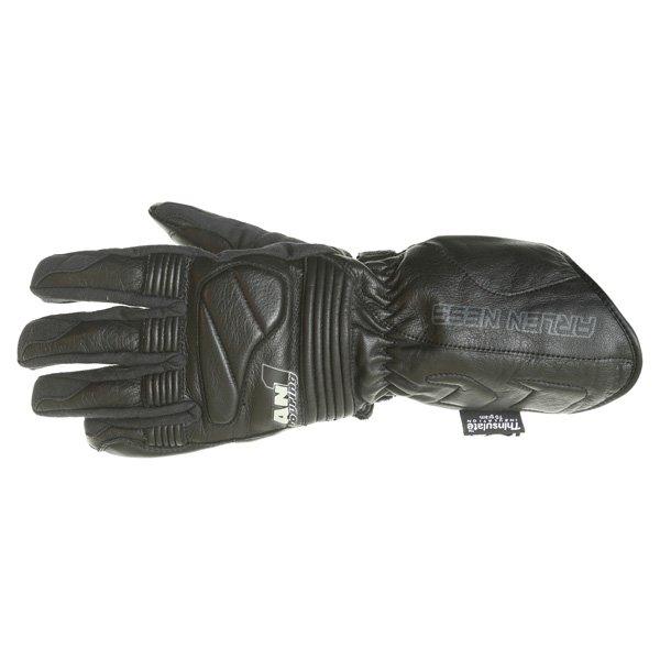 Arlen Ness G-8651 Black Motorcycle Gloves Back