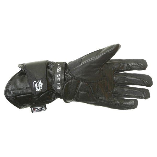 Arlen Ness G-8651 Black Motorcycle Gloves Palm