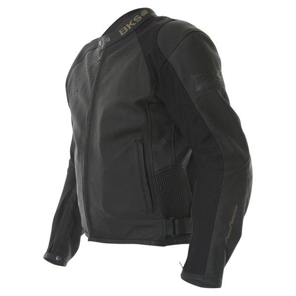 BKS Vanquish Black Leather Motorcycle Jacket Side