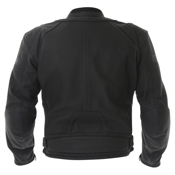 BKS Vanquish Black Leather Motorcycle Jacket Back