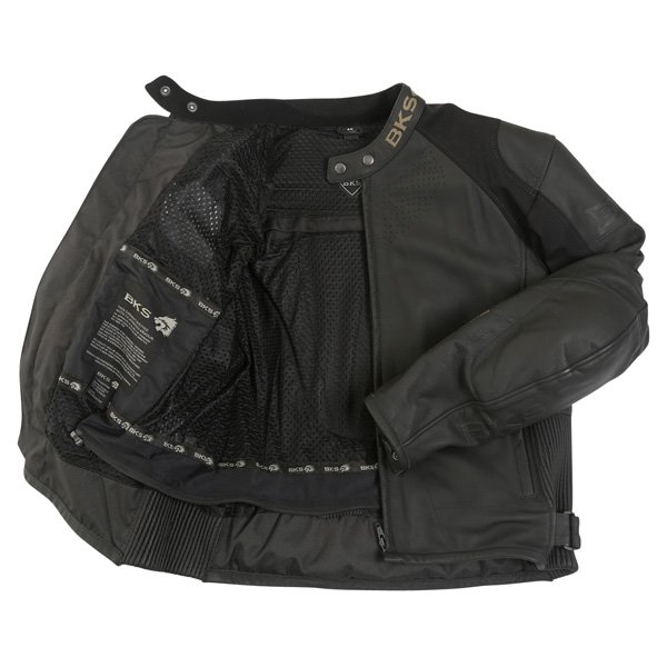 BKS Vanquish Black Leather Motorcycle Jacket Inside