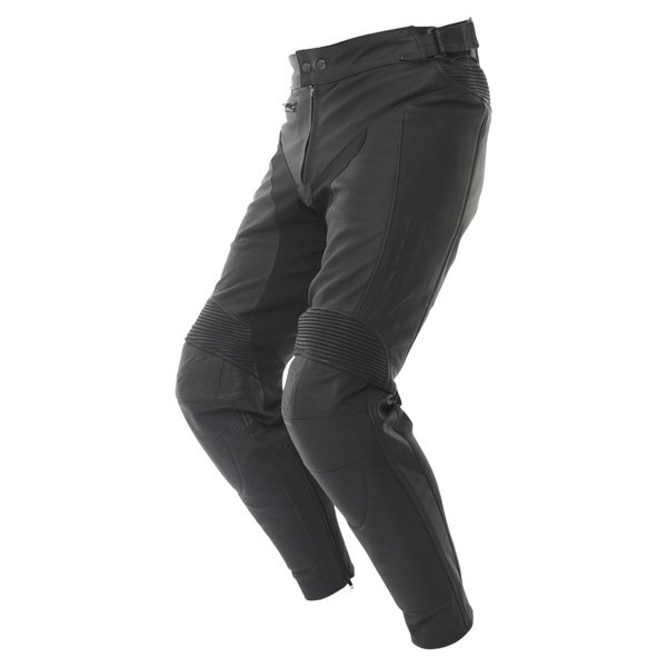BKS Vanquish Mens Black Leather Motorcycle Jeans Riding crouch