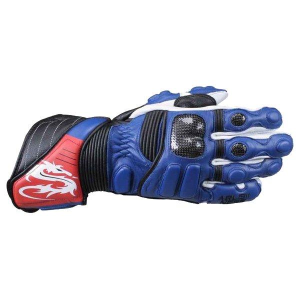Arlen Ness G-6037 Blue Gloves Back