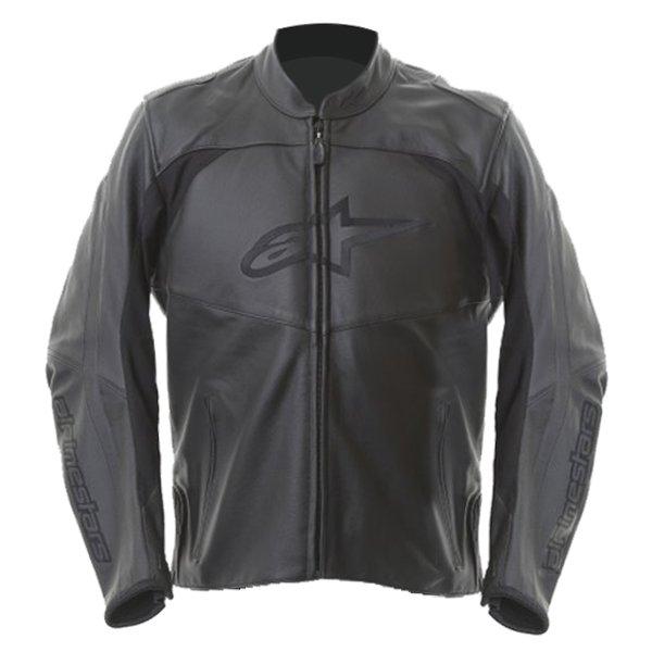 Alpinestars Sp Black Leather Motorcycle Jacket Black Front