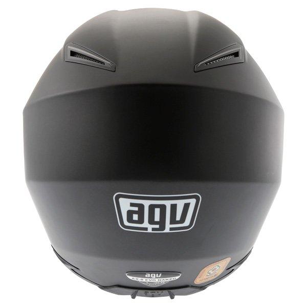 AGV AX8 Evo Naked Matt Black Helmet Back