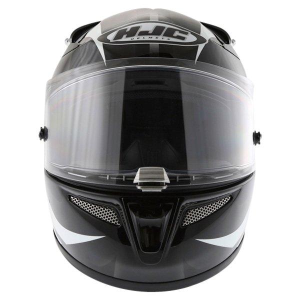 HJC Rpha 10 Furia Black White Helmet Front