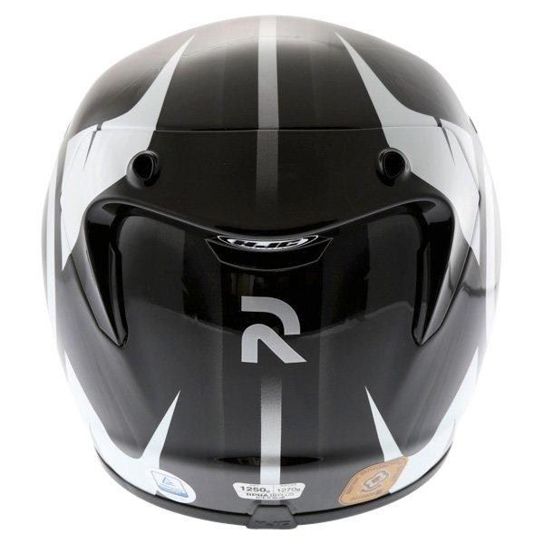 HJC Rpha 10 Furia Black White Helmet Back
