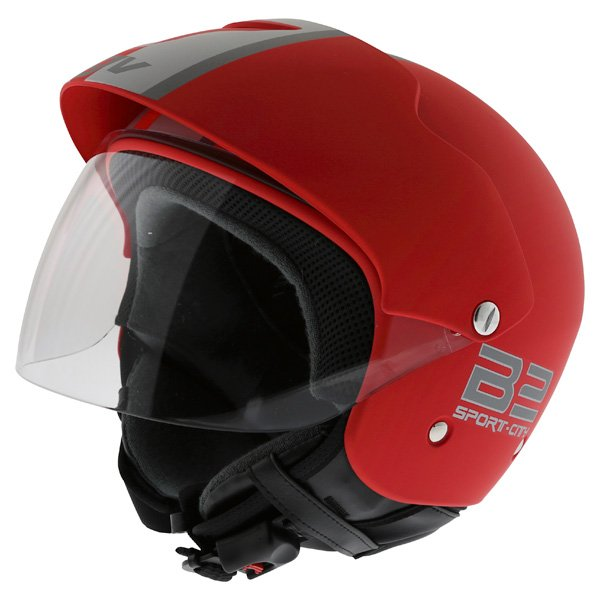 AGV Bali B2 Trendy Red Silver Helmet Front Left