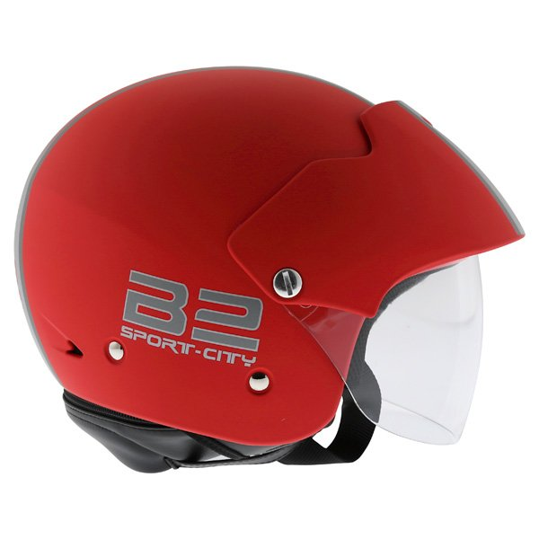 AGV Bali B2 Trendy Red Silver Helmet Right Side