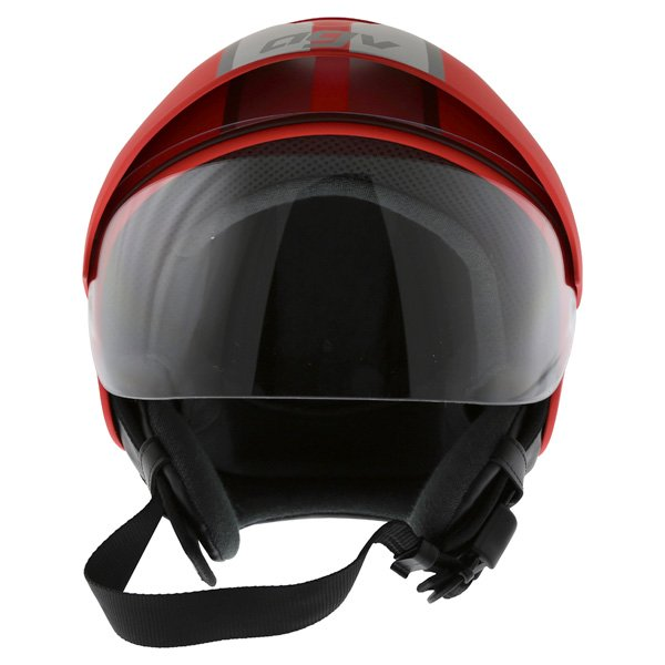 AGV Bali B2 Trendy Red Silver Helmet Front
