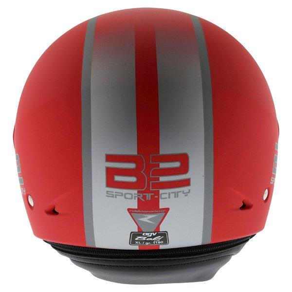 AGV Bali B2 Trendy Red Silver Helmet Back