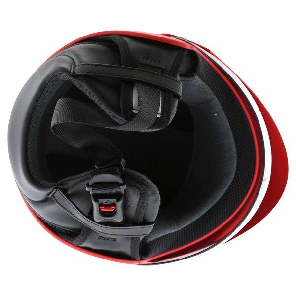 AGV Bali B2 Trendy Red Silver Helmet Inside