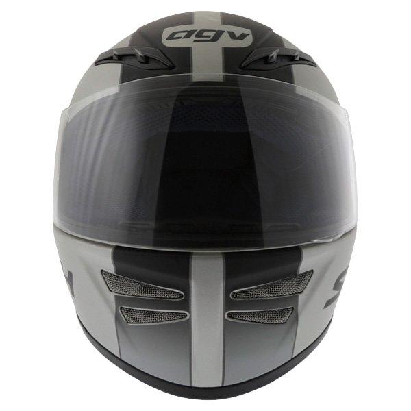 AGV S4 Silver Black Helmet Front