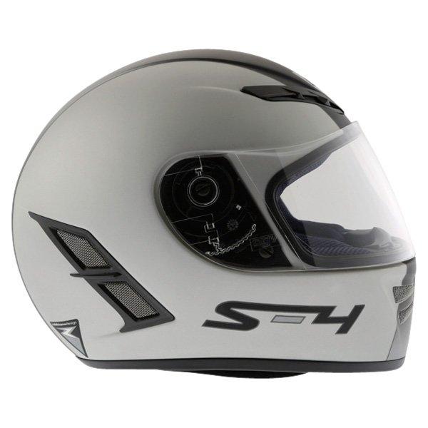 AGV S4 Silver Black Helmet Right Side