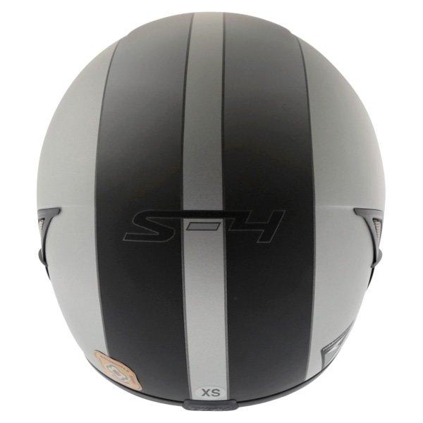 AGV S4 Silver Black Helmet Back
