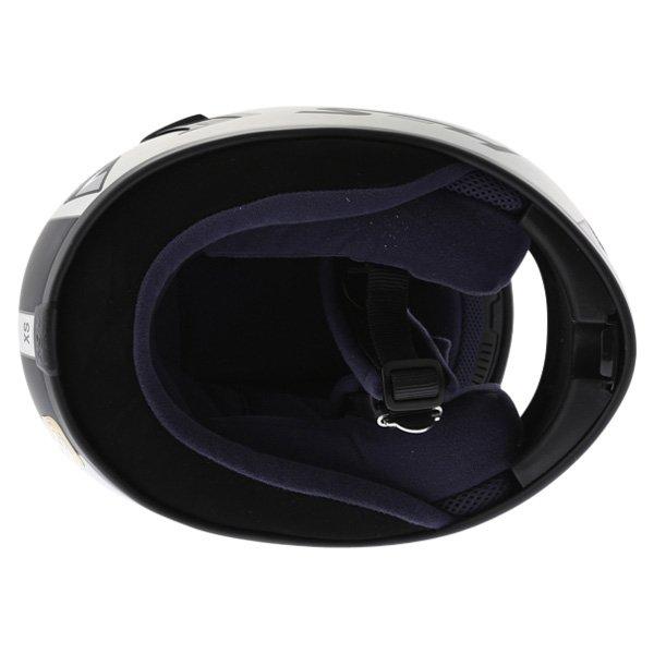 AGV S4 Silver Black Helmet Inside