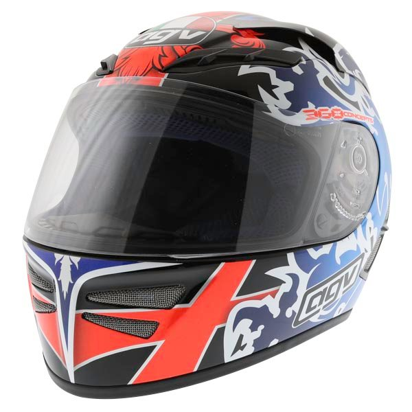 AGV Stealth St George Dark Helmet Front Left