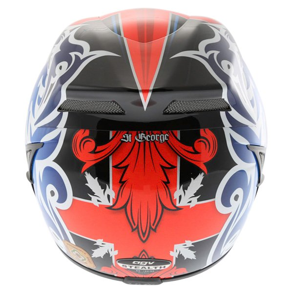 AGV Stealth St George Dark Helmet Back