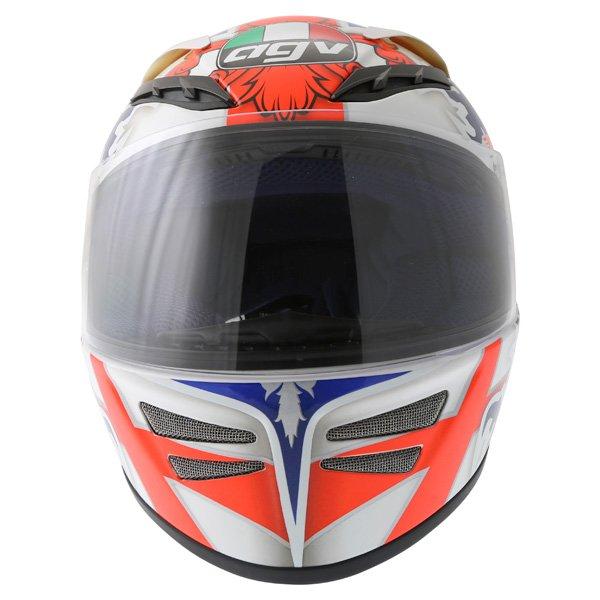 AGV Stealth St George Blue Helmet Front