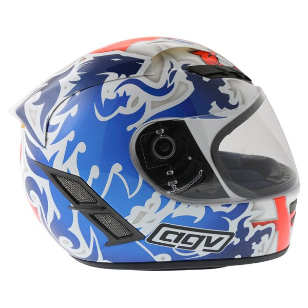 AGV Stealth St George Blue Helmet Back