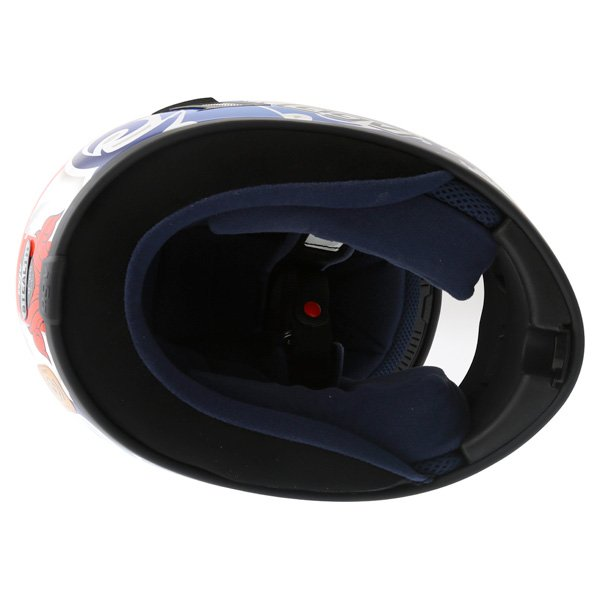 AGV Stealth St George Blue Helmet Inside
