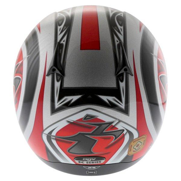 AGV K Series Orient Red Helmet Back