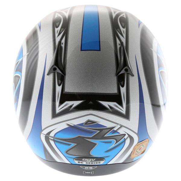 AGV K Series Orient Blue Helmet Back