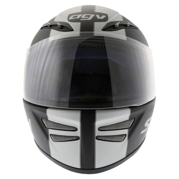AGV S4 Matt Black Silver Helmet Front