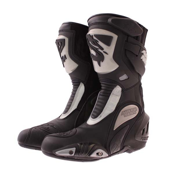 Arlen Ness M101 Black Motorcycle Boots Pair