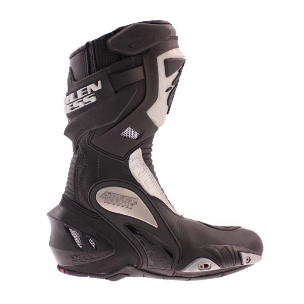 Arlen Ness M101 Black Motorcycle Boots Outside leg