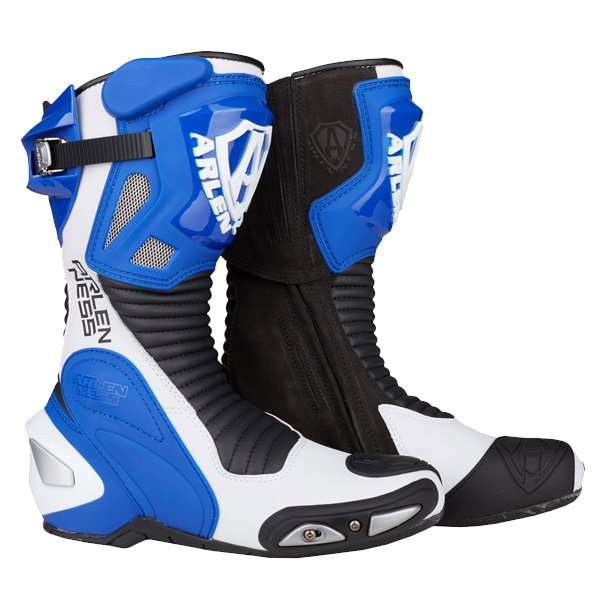 Arlen Ness M101 Blue Motorcycle Boots Pair