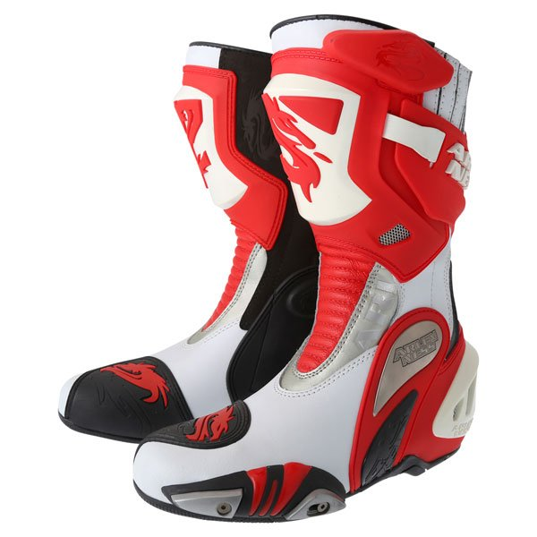 Arlen Ness M101 Red Motorcycle Boots Pair