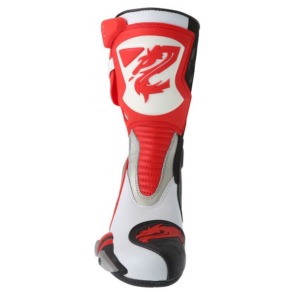 Arlen Ness M101 Red Motorcycle Boots Front
