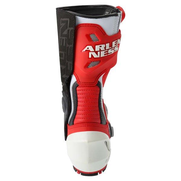 Arlen Ness M101 Red Motorcycle Boots Heel