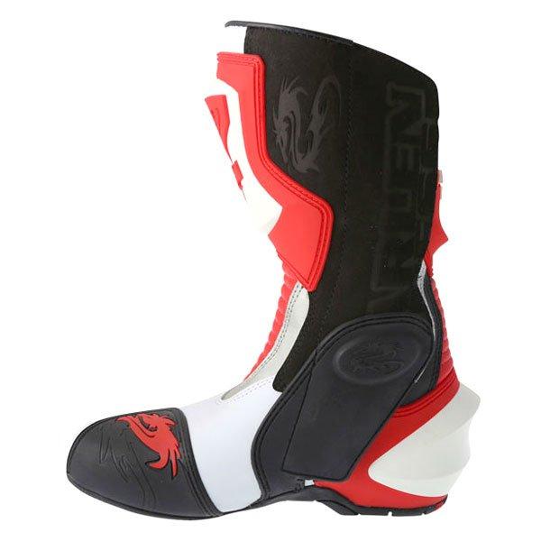 Arlen Ness M101 Red Motorcycle Boots Inside leg