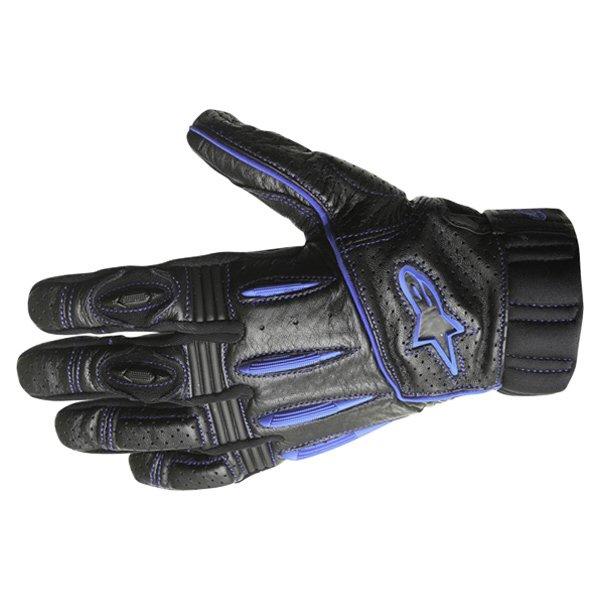 Alpinestars AFK Street Black Blue Motorcycle Gloves Back