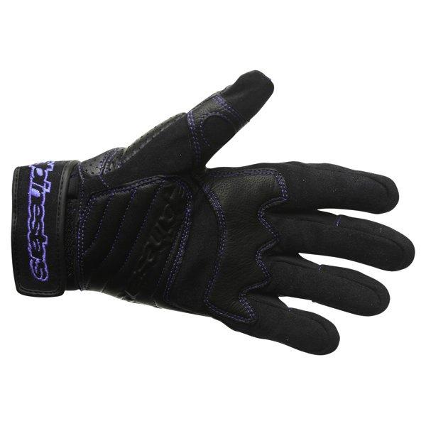 Alpinestars AFK Street Black Blue Motorcycle Gloves Palm