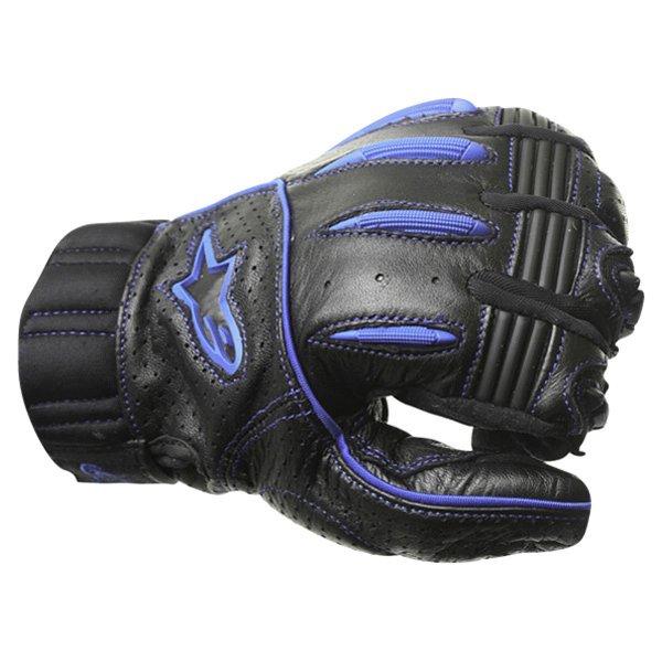 Alpinestars AFK Street Black Blue Motorcycle Gloves Knuckle