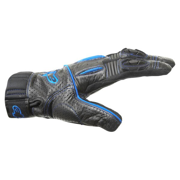 Alpinestars AFK Street Black Blue Motorcycle Gloves Thumb side