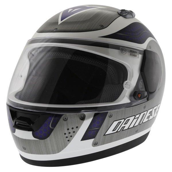 Dainese D181 Met Plate White Blue Helmet Front Left