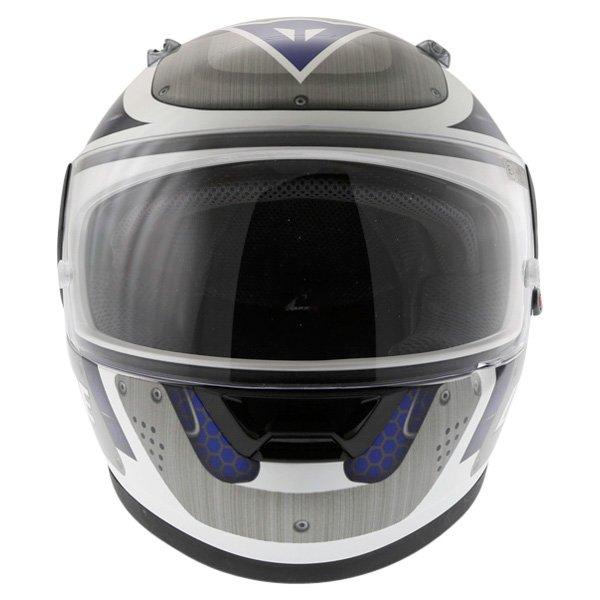 Dainese D181 Met Plate White Blue Helmet Front