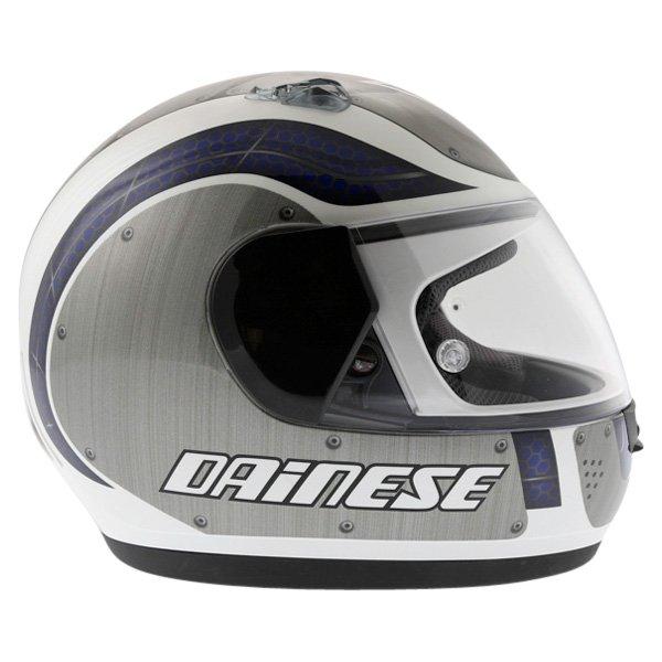 Dainese D181 Met Plate White Blue Helmet Right Side