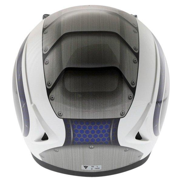 Dainese D181 Met Plate White Blue Helmet Back