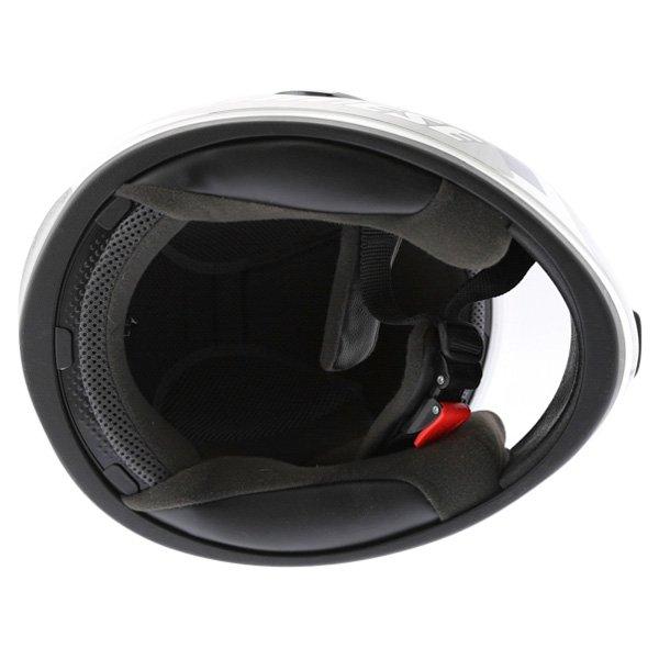 Dainese D181 Met Plate White Blue Helmet Inside