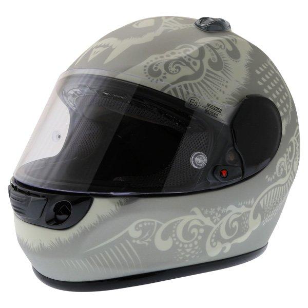 Dainese Performance Fear Silver White Helmet Front Left